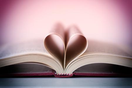 novel: Romance novel heart shaped Stock Photo