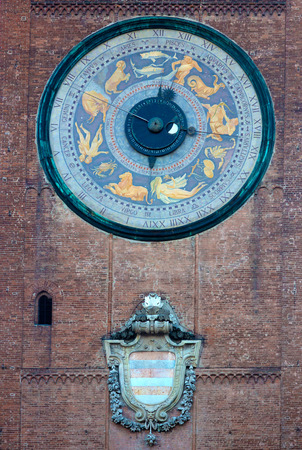 astronomical: Astronomical clock, Torrazzo tower,  Cremona, Italy