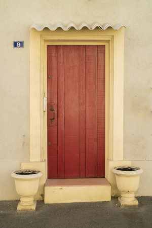 camargue: Res door in Camargue area, provence, france Stock Photo