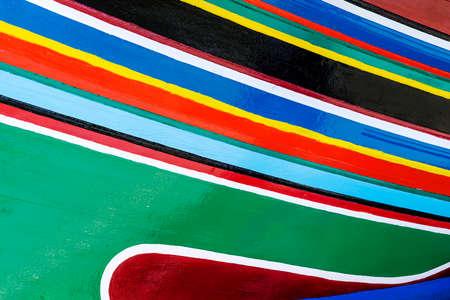 kelantan: Colorful pattern of traditional fisherman boats in Kelantan, Malaysia