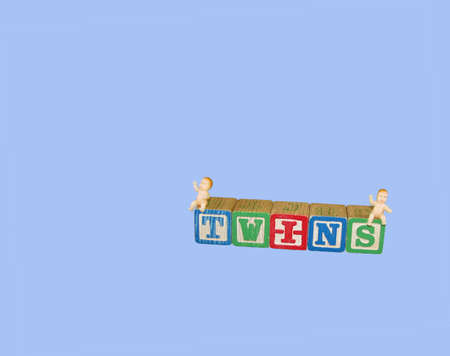 A set of childrens blocks spell out the word