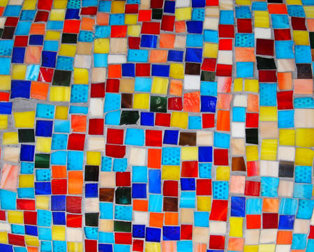 Background image featuring numerous tiny non uniform squares in many colors and textures, cemented together Stock Photo - 23217472