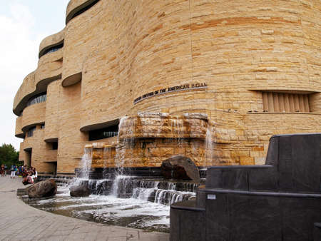 A view of the outside of the National Museum Of The American Indian in Washington, D.C.