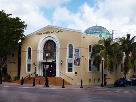 MIAMI, FLORIDA - NOVEMBER 11, 2012: The Jewish Museum of Florida, on Washington Ave. in the South Beach section of Miami, FL. Editorial