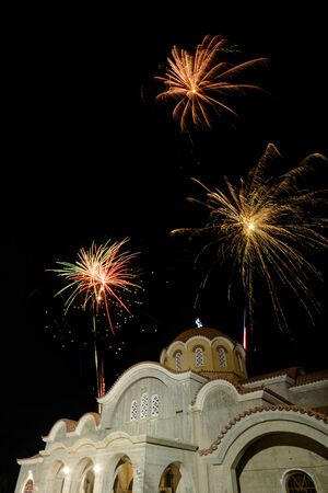 pascha: Fireworks Party at the church