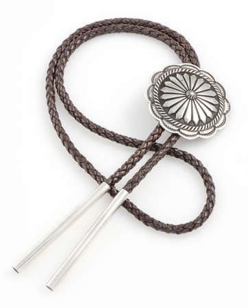 Braided Bolo Tie with Concho  photo