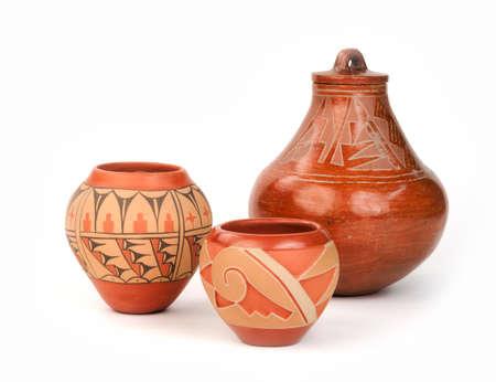Three pieces of Native American Pueblo Pottery  photo