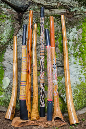 A Collection of Traditional and Handmade Didgeridoo s   photo