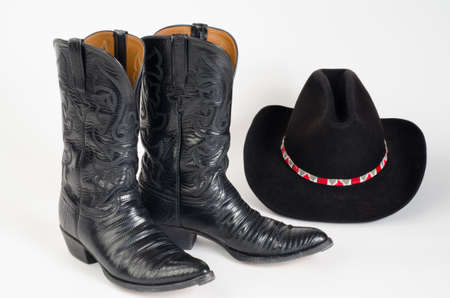 things that go together:  Cowboy Boots and Hat with Beaded Hatband