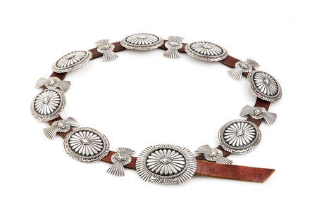 silver jewelry: Sterling Silver, Native American Concho Belt