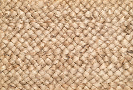 sisal: Woven Sisal & Wool Rug Background Stock Photo