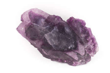 Large Purple Fluorite Crystal with micro crystals of Chalcopyrite, rough mineral specimen. photo