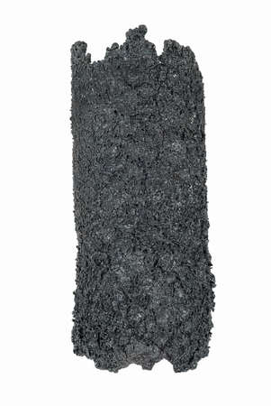creosote: Dangerous accumulation of Creosote removed from a Wood Stove Chimney Pipe.