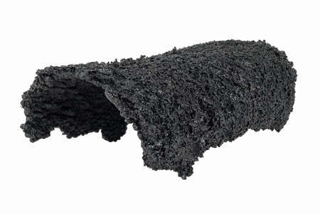 stoves: Dangerous accumulation of Creosote removed from a Wood Stove Chimney Pipe.