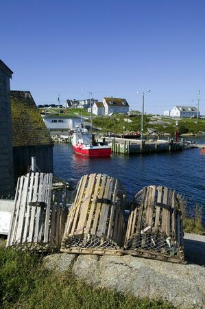 Lobster Traps at Dock Side photo