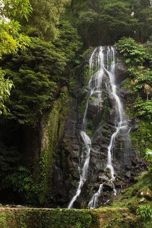 Waterfall, Natural Park of Ribeira dos Caldeir�es, San Miguel, Azores