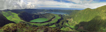 Santiago and other Lagoons at Sete Cidades, San Miguel, Azores