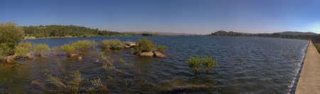 panoramics: Panoramics of dams lake over river Olo. Natural Park of Alv�o, Portugal