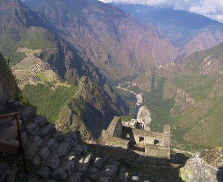 Wayna Picchu ruins, Machu Picchu and Urubamba valley