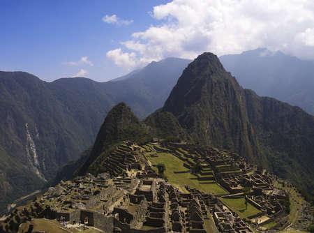 Machu Picchu, Wayna Picchu and surrounding mountains.