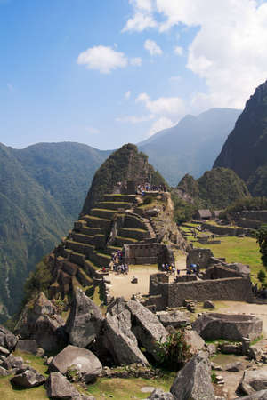 Intiwatana, Incas astronomical observatory in Machu Picchu.