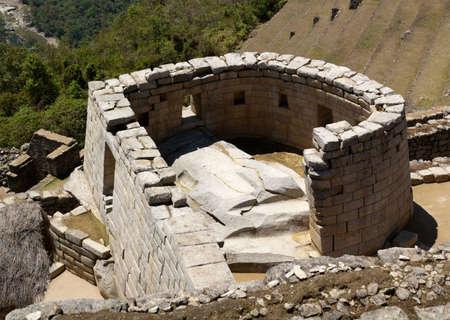 Machu Picchu Sun Temple and its sacrificial stone