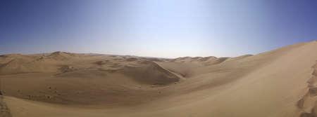 Sand dunes of Ica desert, Peru.