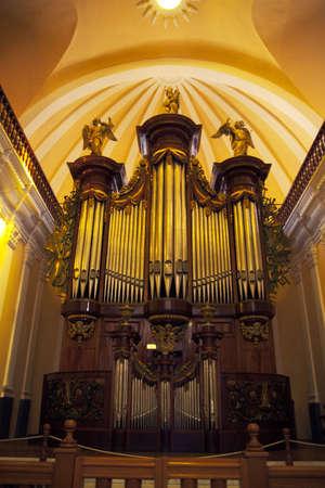 A huge church organ at Arequipa Cathedral, Peru. Stock Photo - 12547231