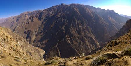 Colca Canyon near Cruz del Condor by mid morning. Peru. Stock Photo