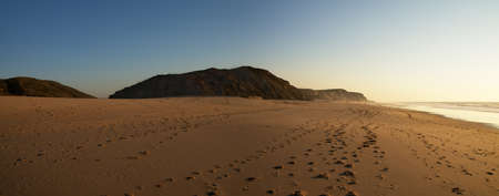 Panorama of Santa Rita Beach near Torres Vedras. Portugal. Stock Photo - 13198233