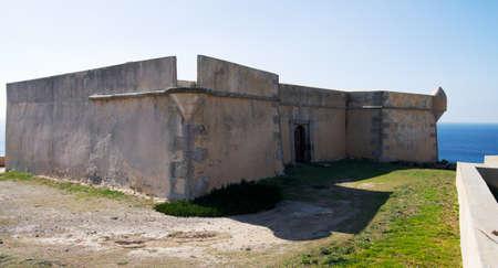 Fort Paimogo lateral and main entrance view. Areia Branca, Lourinh&Atilde,&pound, Portugal. Stock Photo - 13452441