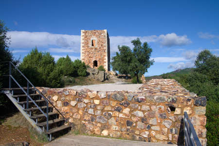 Ruins of castle tower of visigoth King Wamba. Portas de Rodao, Vila Velha de Rodao, Portugal