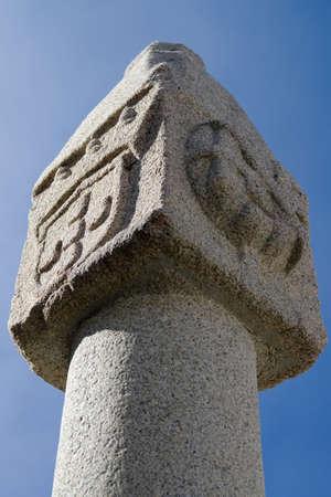 Whipping post pillory tip against blue sky. Vila Velha de Rodao, Portugal. Stock Photo - 16393600