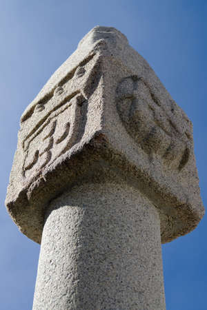 Whipping post pillory tip against blue sky. Vila Velha de Rodao, Portugal. Stock Photo - 16393600