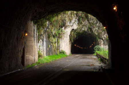 madalena: Road through tunnel between Madalena do Mar and Ponta do Sol at Madeira island  Portugal