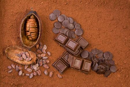 sugar powder: cocoa and chocolate