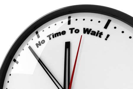intention: horloge 3D temps � attendre aucun Banque d'images