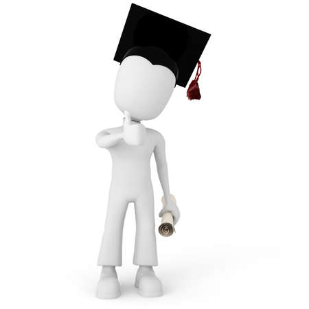 whitem: 3d man student
