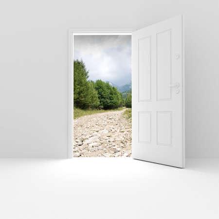 adentro y afuera: Sala 3D con una bonita vista