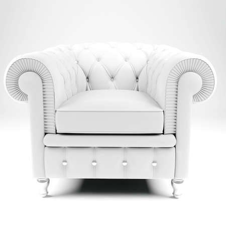 3d armchair , isolated in white