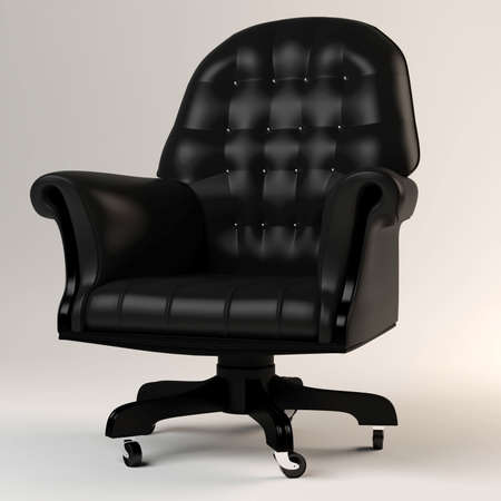 3d armchair, studio render photo