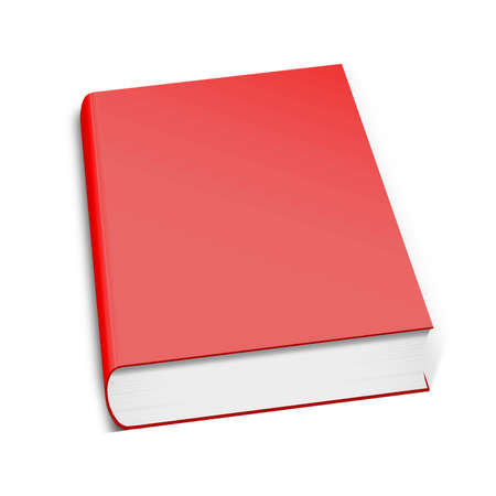 3d book with blank covers, isolated on white Stock Photo