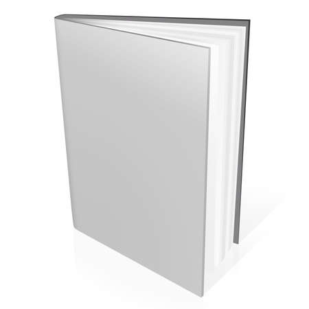 3d book with blank covers, isolated on white photo