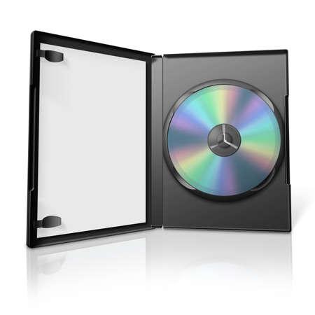 dvd case: 3d dvd case Stock Photo