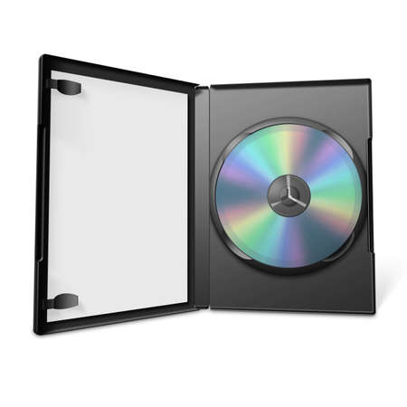 dvd case: 3d dvd case Stock Photo