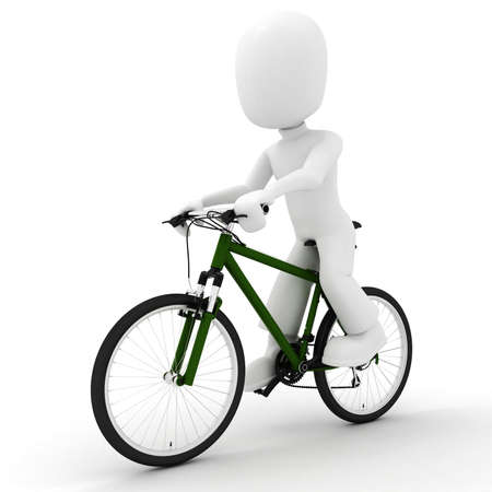 3d man on bicycle  Stock Photo - 7911221
