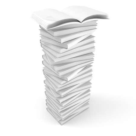 3d blank  boocks isolated on white Stock Photo - 8161342