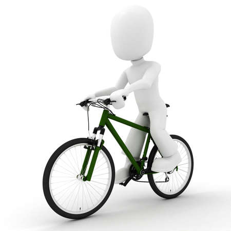 3d man on bicycle Stock Photo - 8533277