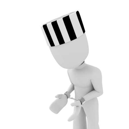 3d man handcuffed photo