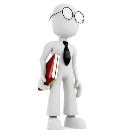 3d man holding a book Stock Photo - 8224262